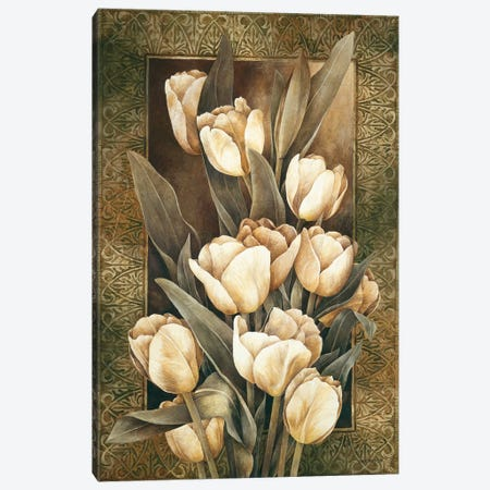 Golden Tulips 3-Piece Canvas #LTH18} by Linda Thompson Art Print