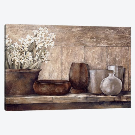Hyacinth On A Sideboard Canvas Print #LTH19} by Linda Thompson Canvas Print
