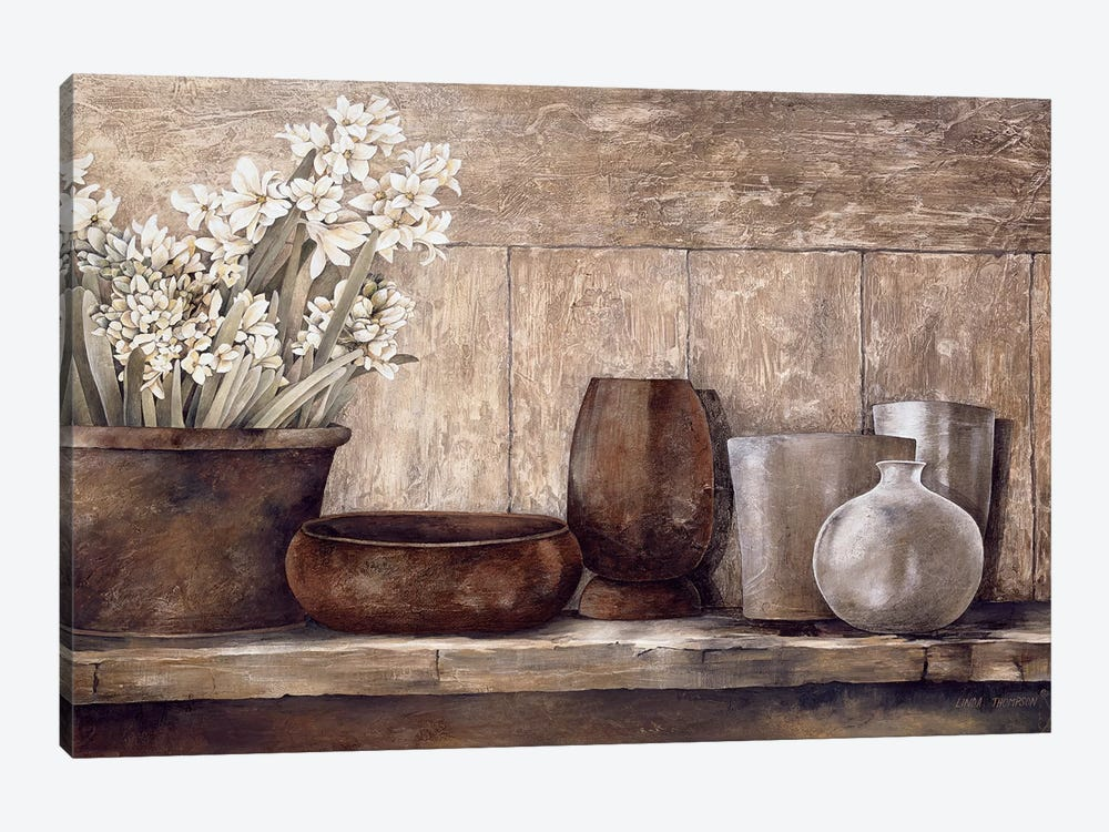 Hyacinth On A Sideboard by Linda Thompson 1-piece Art Print