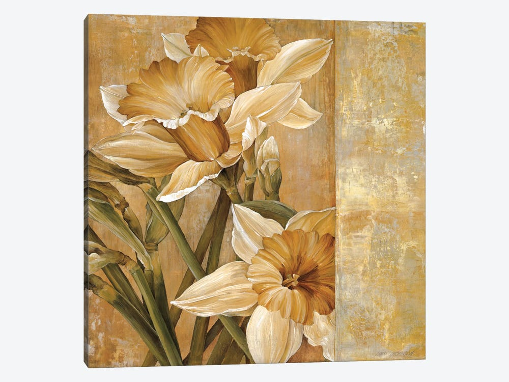 Champagne Daffodils I by Linda Thompson 1-piece Canvas Art Print