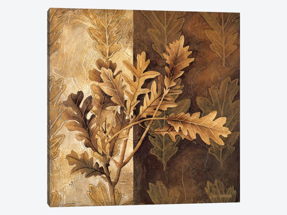 Leaf Patterns I by Linda Thompson 1-piece Canvas Wall Art