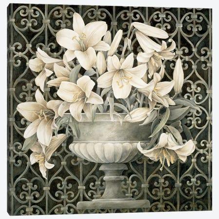 Lilies In Urn Canvas Print #LTH26} by Linda Thompson Canvas Print