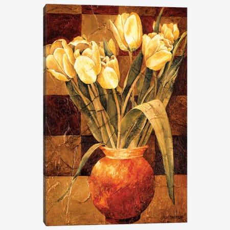 Checkered Tulips I Canvas Print #LTH2} by Linda Thompson Art Print