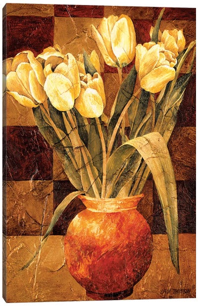 Checkered Tulips I Canvas Art Print