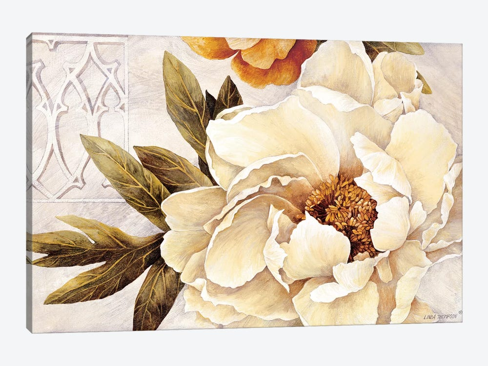 Summer Fresh Peonies by Linda Thompson 1-piece Canvas Wall Art