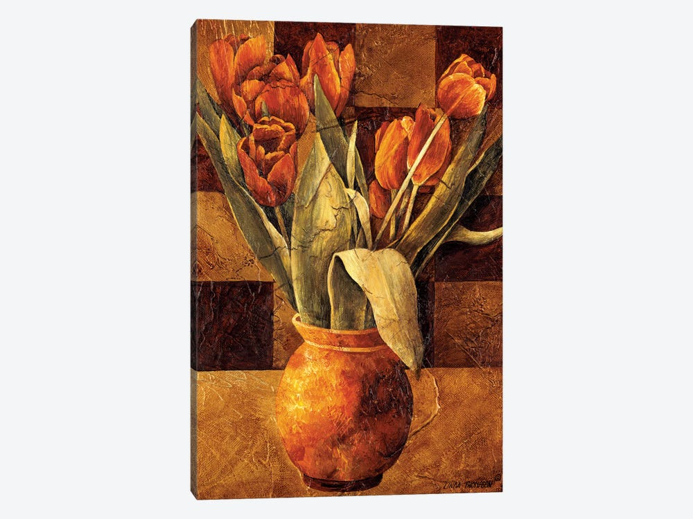 Checkered Tulips II by Linda Thompson 1-piece Art Print