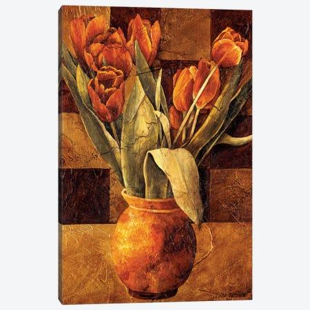 Checkered Tulips II Canvas Print #LTH3} by Linda Thompson Canvas Art Print