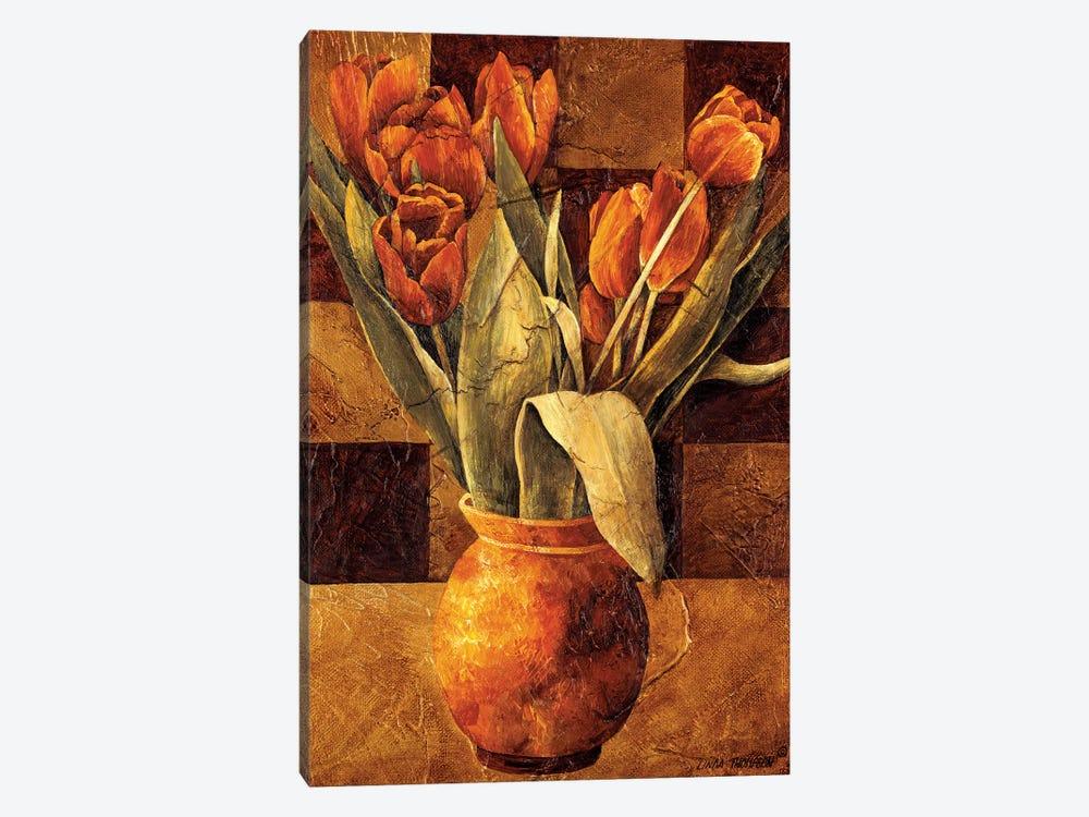 Checkered Tulips II by Linda Thompson 1-piece Art Print