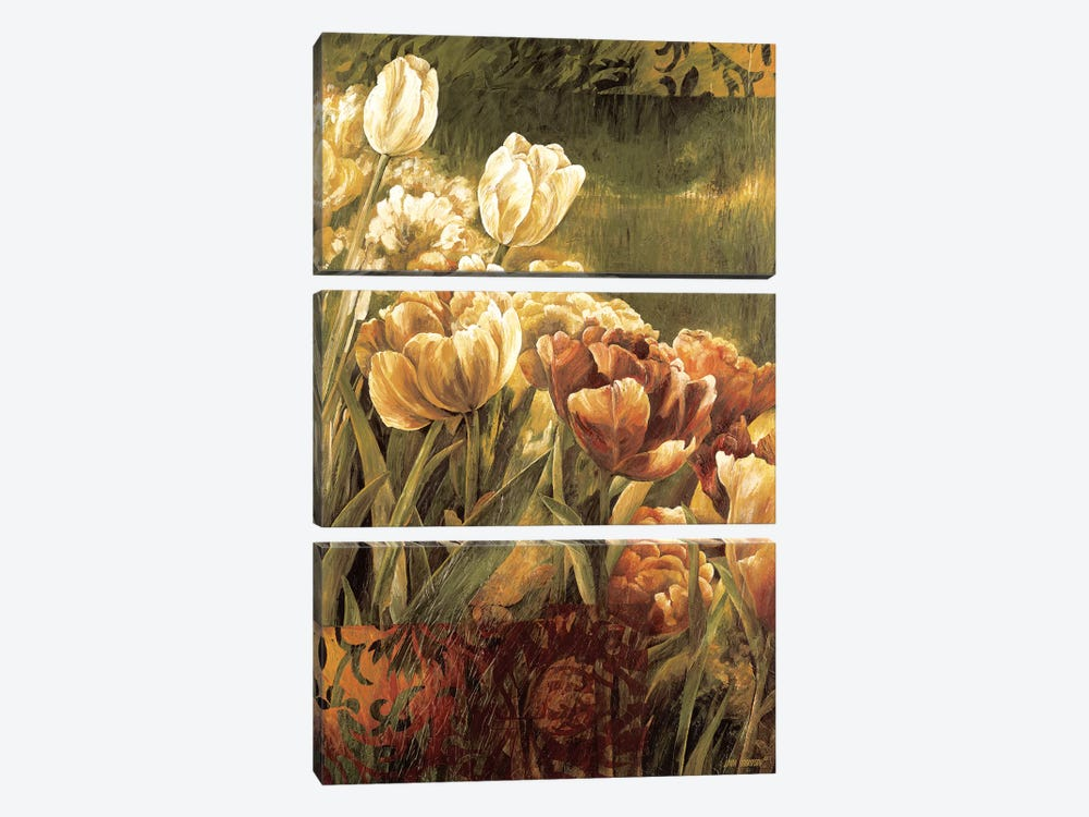 Summer Garden II by Linda Thompson 3-piece Canvas Wall Art