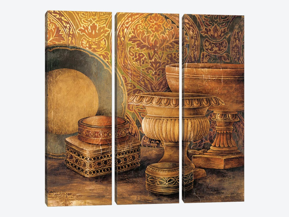 Vintage Elements I by Linda Thompson 3-piece Canvas Wall Art