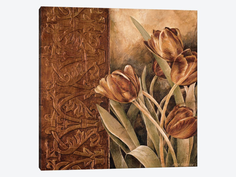 Copper Tulips I by Linda Thompson 1-piece Canvas Wall Art