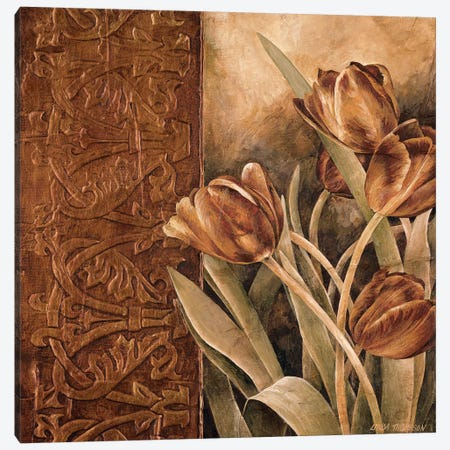 Copper Tulips I Canvas Print #LTH6} by Linda Thompson Canvas Artwork