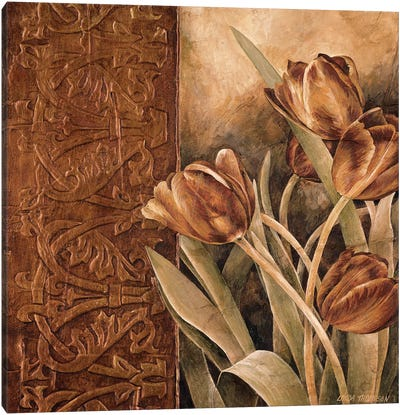 Copper Tulips I Canvas Art Print