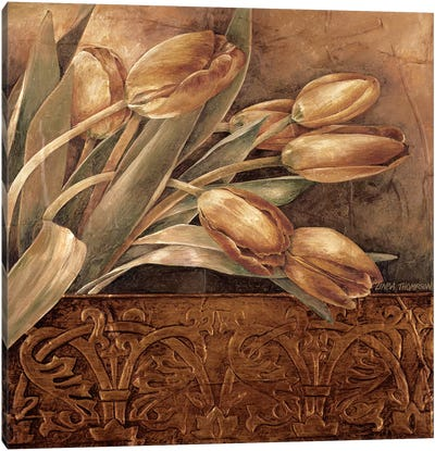 Copper Tulips II Canvas Art Print