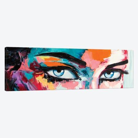 Pop Color Eyes I Canvas Print #LTK1} by Lana Tikhonova Canvas Wall Art