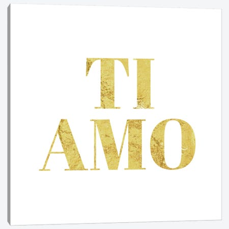 """""""Ti Amo"""" Yellow Canvas Print #LTL36} by 5by5collective Canvas Artwork"""