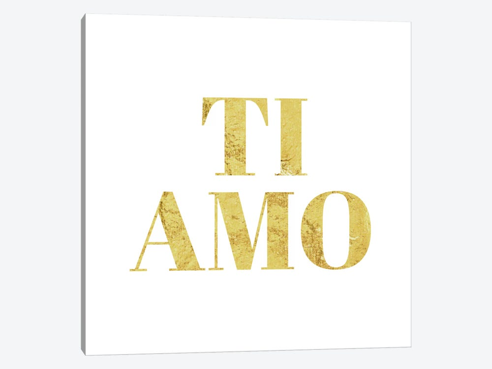 """Ti Amo"" Yellow by 5by5collective 1-piece Art Print"