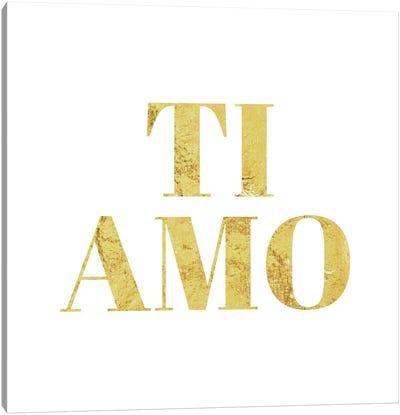 """Ti Amo"" Yellow Canvas Art Print"