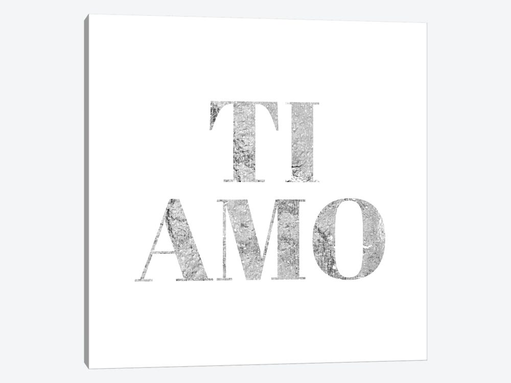 """Ti Amo"" Gray by 5by5collective 1-piece Canvas Artwork"