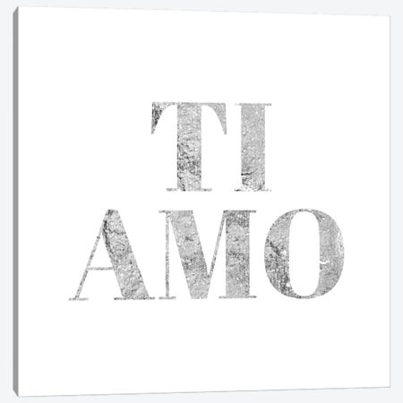 """Ti Amo"" Gray Canvas Print #LTL37} by 5by5collective Canvas Artwork"