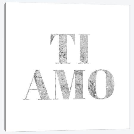 """Ti Amo"" Gray Canvas Print #LTL37} by 5by5collective Canvas Artwork"