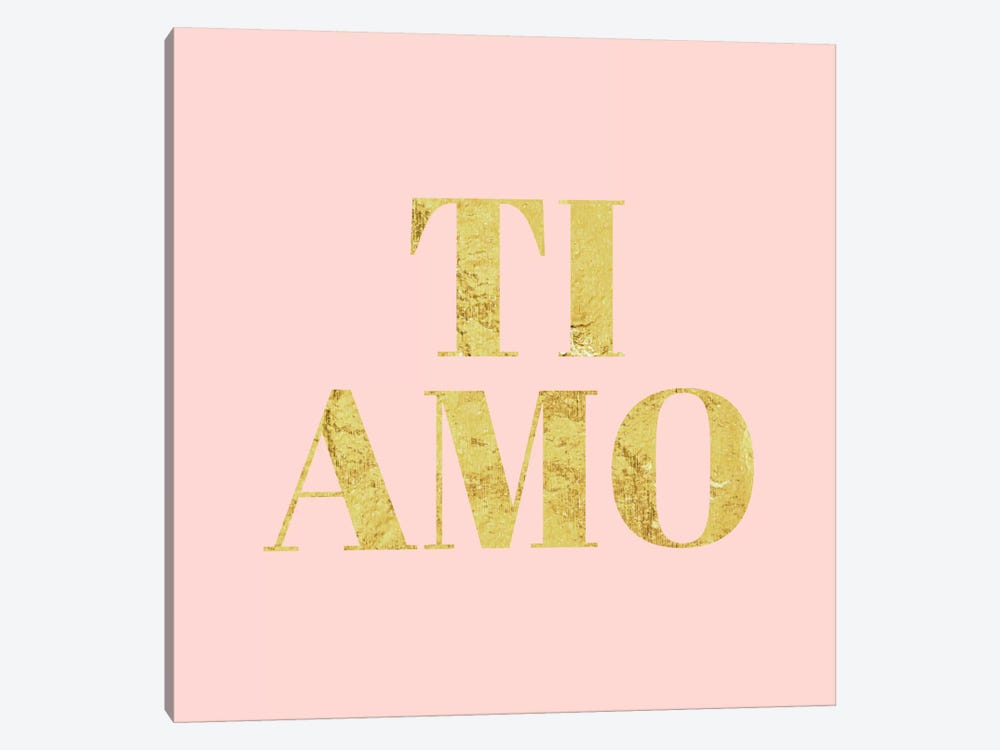 """Ti Amo"" Yellow on Pink by 5by5collective 1-piece Art Print"