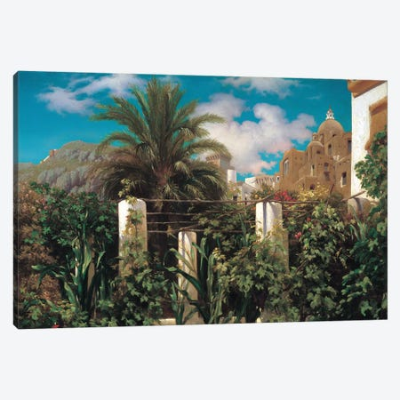 A Garden In Capri Canvas Print #LTN1} by Frederic Leighton Art Print