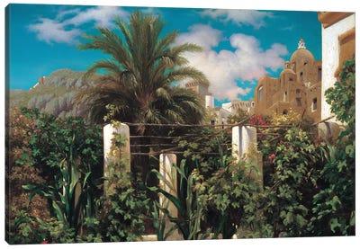 A Garden In Capri Canvas Art Print