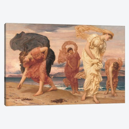 By The Sea Canvas Print #LTN2} by Frederick Leighton Canvas Print