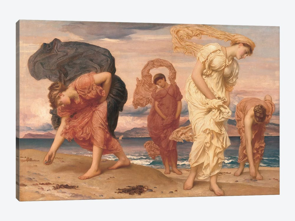 By The Sea by Frederic Leighton 1-piece Canvas Art