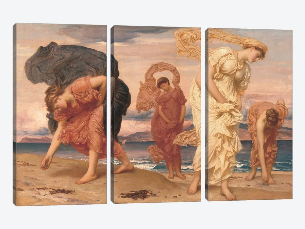 By The Sea by Frederic Leighton 3-piece Canvas Wall Art