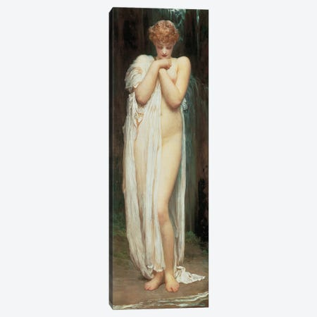 Crenaia, The Nymph Of The Dargle Canvas Print #LTN5} by Frederic Leighton Canvas Wall Art