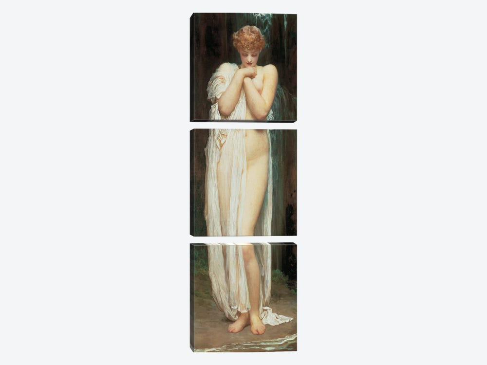 Crenaia, The Nymph Of The Dargle by Frederic Leighton 3-piece Canvas Art Print