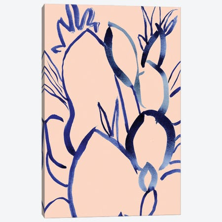 Ink Leaves Canvas Print #LTR10} by Christine Lindstrom Art Print