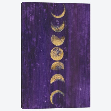 Moon Phases Canvas Print #LTR18} by Christine Lindstrom Canvas Art Print