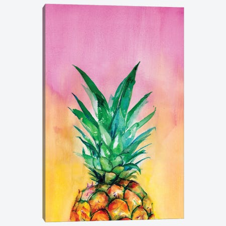 Ombre Pineapple Canvas Print #LTR20} by Christine Lindstrom Canvas Art