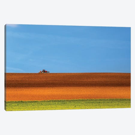 The Tractor Canvas Print #LTT11} by Massimo Della Latta Canvas Art Print