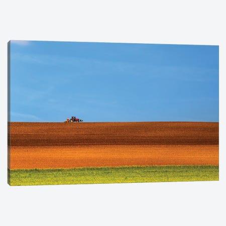 The Tractor Canvas Print #LTT11} by Massimo Della Latta Canvas Art Print