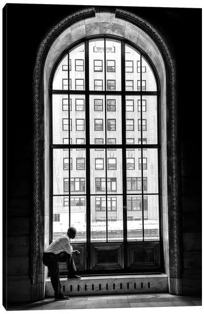 A Lonely Man Canvas Art Print