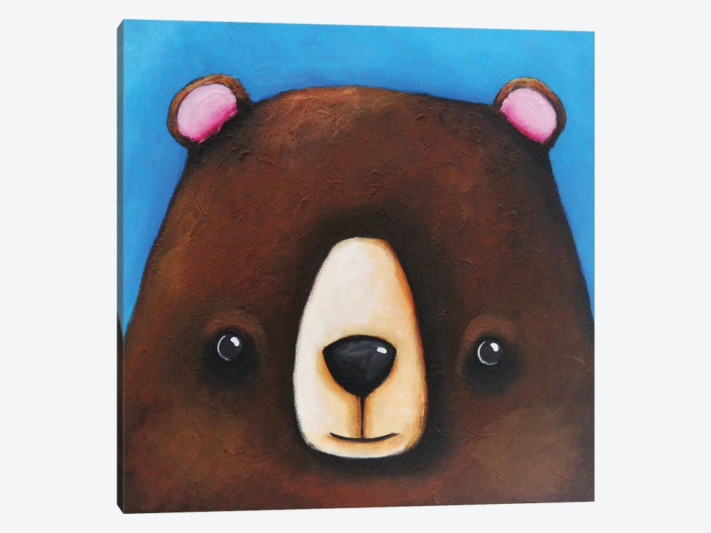 The Black Bear by Lucia Stewart 1-piece Canvas Print