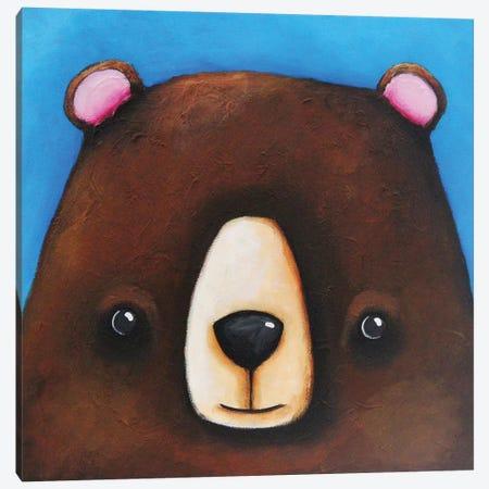 The Black Bear Canvas Print #LUC1} by Lucia Stewart Canvas Art Print