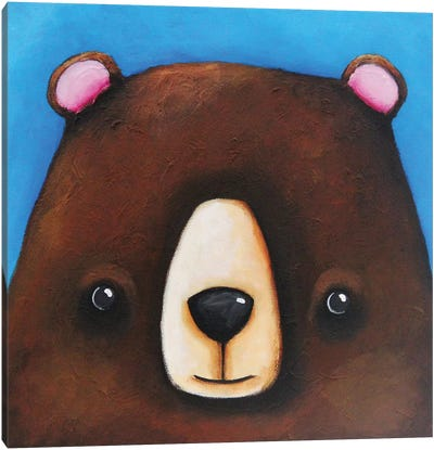The Black Bear Canvas Art Print