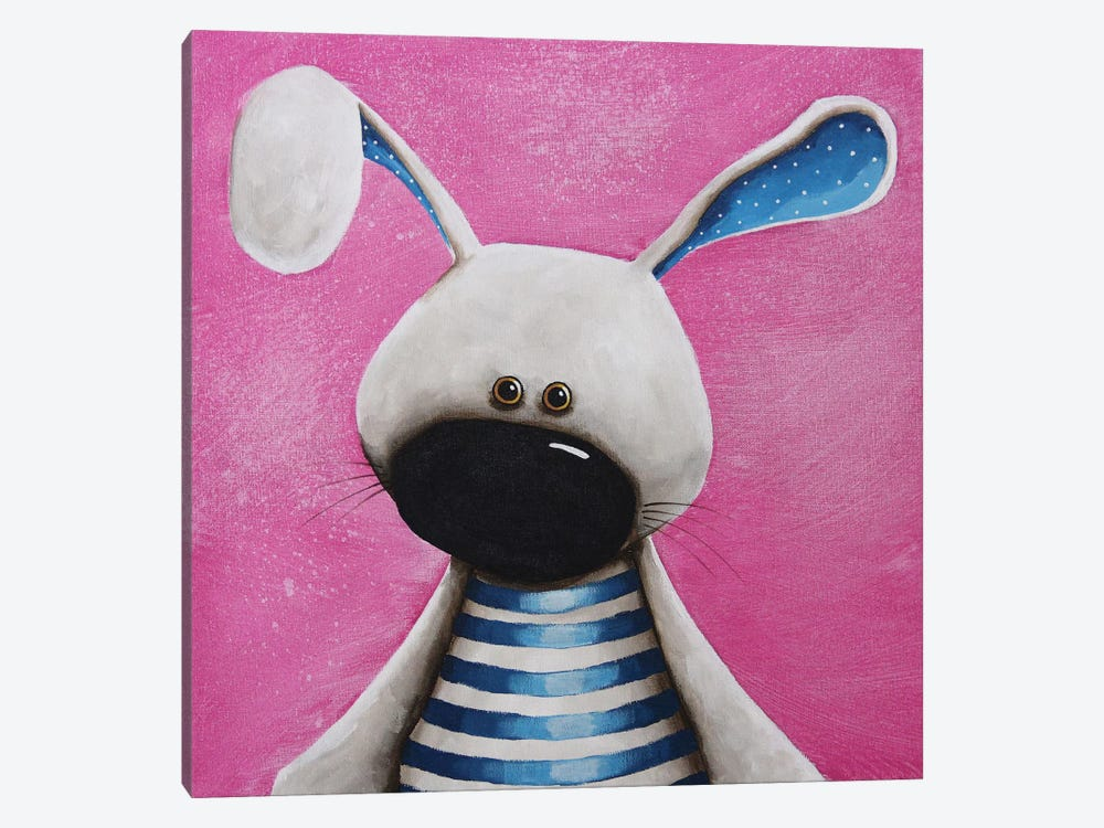 The Blue Bunny by Lucia Stewart 1-piece Canvas Wall Art