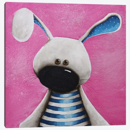 The Blue Bunny Canvas Print #LUC2} by Lucia Stewart Canvas Art Print