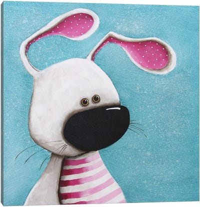 The Pink Bunny Canvas Art Print