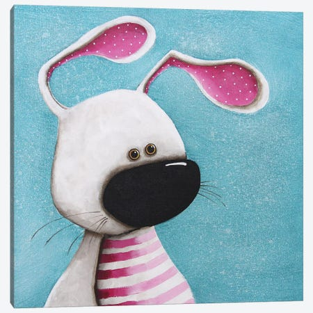 The Pink Bunny Canvas Print #LUC5} by Lucia Stewart Canvas Wall Art
