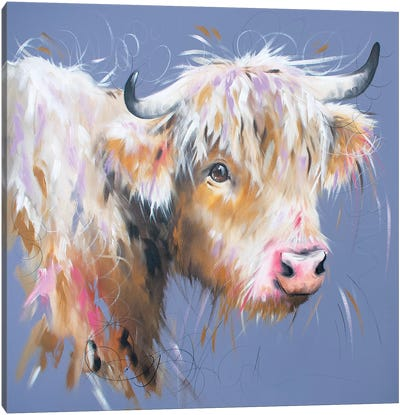 Hetty Highland Canvas Art Print