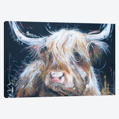 Highland Moo Canvas Print #LUG14} by Louise Green Canvas Artwork