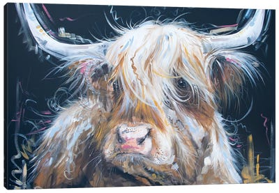 Highland Moo Canvas Art Print