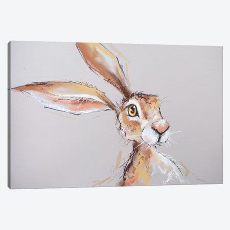 Little Brown Hare Canvas Print #LUG16} by Louise Green Canvas Wall Art